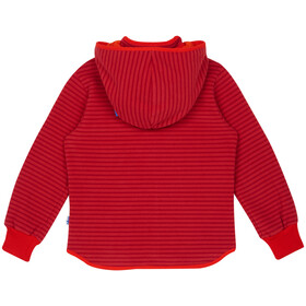 Finkid Tonttu Striped Fleece Jacket Kinder cranberry/grenadine